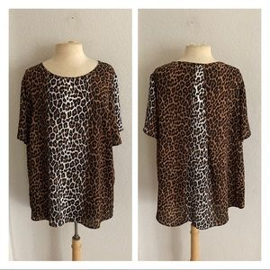 CLOSET CLOSING Premise animal print blouse